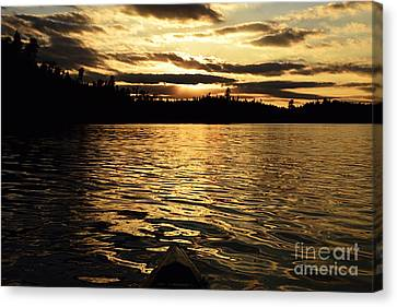 Evening Paddle On Amoeber Lake Canvas Print