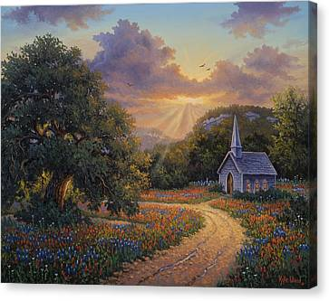 Evening Praise Canvas Print by Kyle Wood