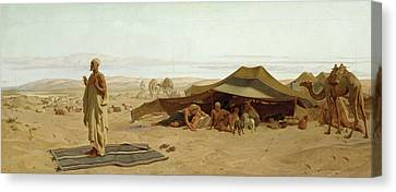 Evening Prayer In The West Canvas Print by Frederick Goodall