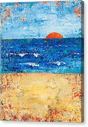 Canvas Print featuring the painting Evening Promise by Chris Rice