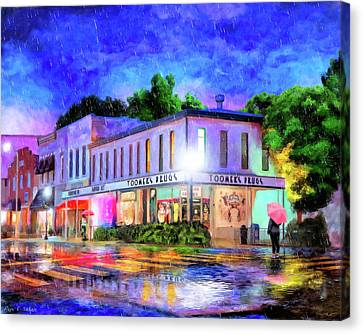Evening Rain In Auburn Canvas Print