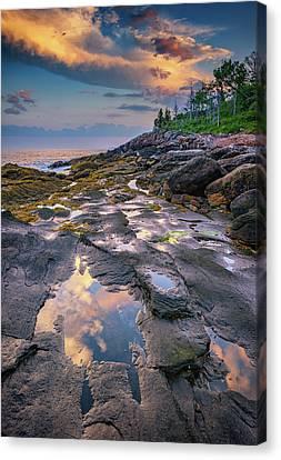 Evening Reflection, Bristol, Maine Canvas Print by Rick Berk