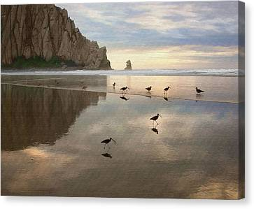 Evening Reflection Canvas Print by Sharon Foster