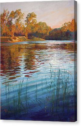 Evening Reflections, Goulburn River Canvas Print by Lynda Robinson