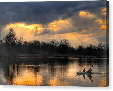 Canvas Print featuring the photograph Evening Relaxation by Sumoflam Photography