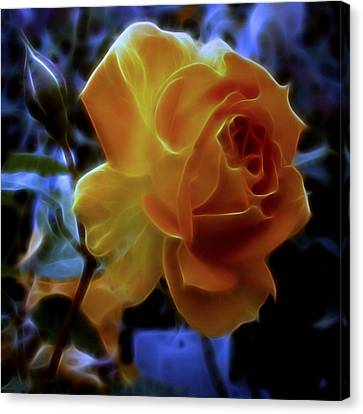 Evening Rose Canvas Print by Susan  Epps Oliver