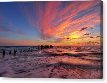 Canvas Print featuring the photograph Evening Rush by Mike Lang