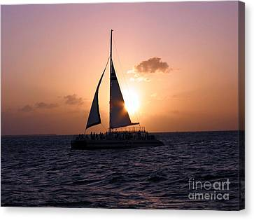 Evening Sail Canvas Print by Ania M Milo