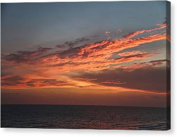 Panama City Beach Canvas Print - Evening Skies Over The Gulf by Theresa Campbell
