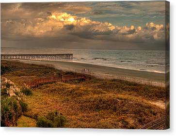 Evening Skies Canvas Print by Paulette B Wright