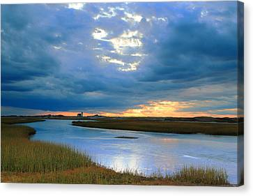Evening Sky Over Hatches Harbor, Provincetown Canvas Print