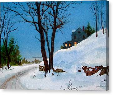 Evening Snow Canvas Print by Faye Ziegler