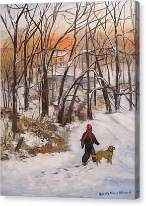 Evening Stroll Canvas Print by Aurelia Nieves-Callwood