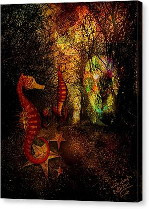 Evening Stroll Canvas Print by Mimulux patricia no No