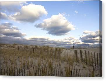 Evening Sunset Beach Scene Along Cape Canvas Print by Keenpress