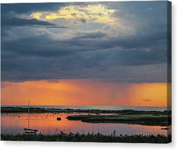 Evening Sunset Mood Canvas Print by Kim Lessel