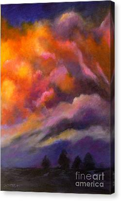 Evening Symphony Canvas Print by Alison Caltrider
