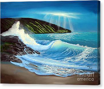 Evening Tide Canvas Print by Tobi Czumak