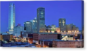 Evening Time In Okc Canvas Print by Frozen in Time Fine Art Photography