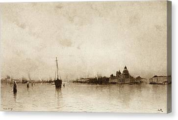Evening,  Venice  By I Will, Pseudonym Canvas Print by Vintage Design Pics
