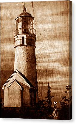 Evening Walk At Cape Blanco Canvas Print by Dino Muradian