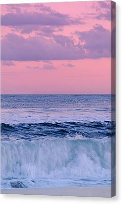 Evening Waves 2 - Jersey Shore Canvas Print by Angie Tirado