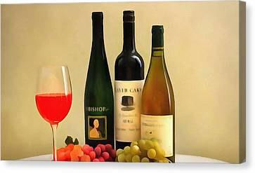 Evening Wine Display Canvas Print by Dan Sproul