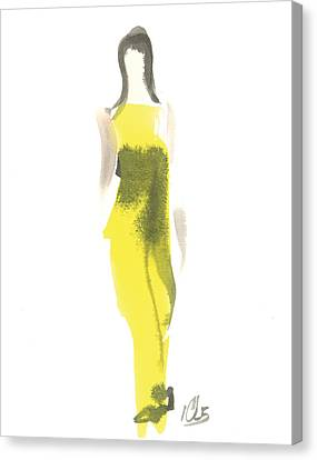Evening Yellow Gown Canvas Print by Carl Griffasi
