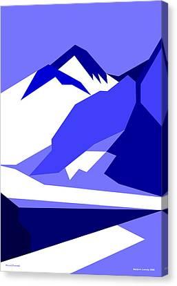 Everest Blue Canvas Print by Asbjorn Lonvig