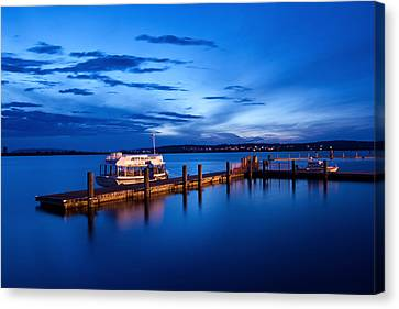 Puget Sound Canvas Print - Everett Waterfront by Tanya Harrison