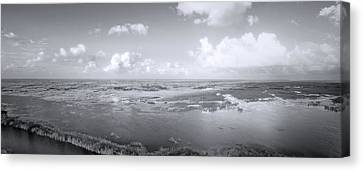 Everglades Aerial View Canvas Print by Mark Andrew Thomas