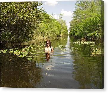 Canvas Print featuring the photograph Everglades Beauty One by Lucky Cole