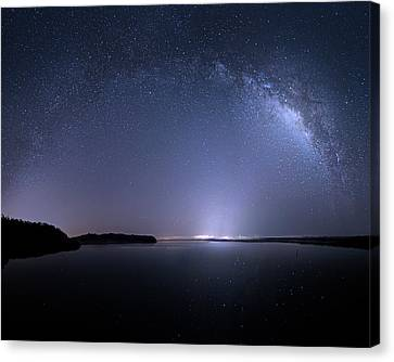 Canvas Print featuring the photograph Everglades National Park Milky Way by Mark Andrew Thomas