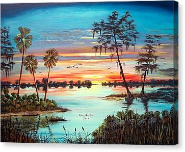 Everglades Sunset Canvas Print by Riley Geddings