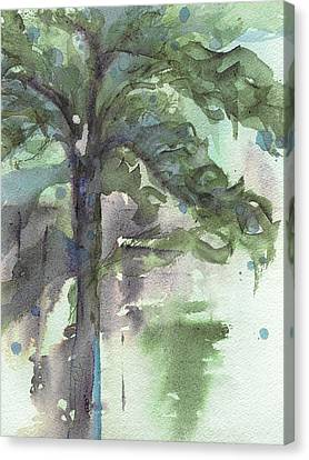 Canvas Print featuring the painting Evergreen by Dawn Derman