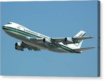 Evergreen International 747-273c N470ev At San Bernardino May 31 2006 Canvas Print by Brian Lockett