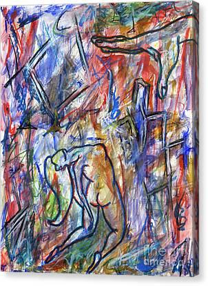 Overhearing Canvas Print - Everlong by Samir Patel