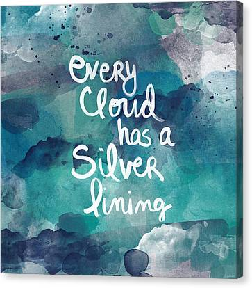 Abstract Art Canvas Print - Every Cloud by Linda Woods