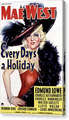 Every Days A Holiday, Mae West, 1937 Canvas Print by Everett