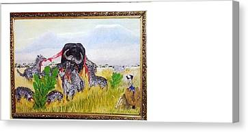 Every Dog Has Its Day Canvas Print by Emmanuel Nwogbo