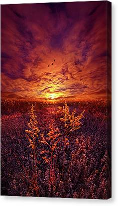 Canvas Print featuring the photograph Every Sound Returns To Silence by Phil Koch