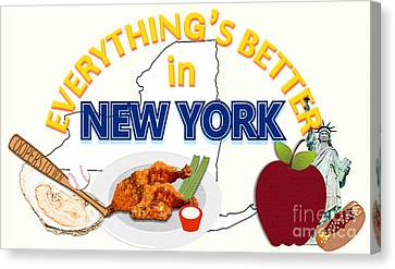 Everything's Better In New York Canvas Print by Pharris Art