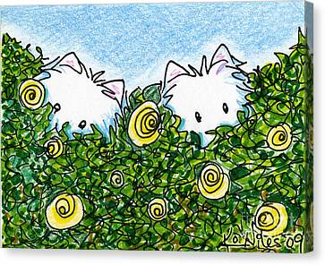 Everythings Coming Up Westies Canvas Print