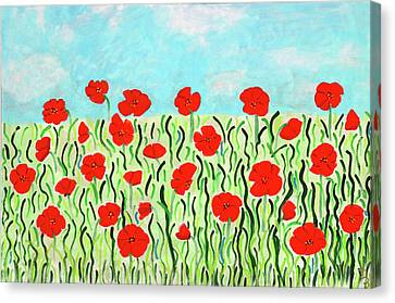 Everythings Popping Up Poppies Canvas Print