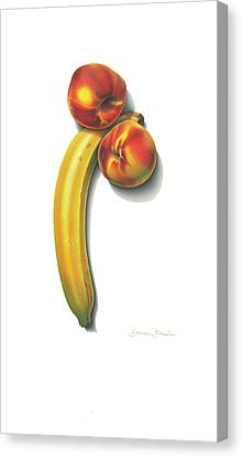 Canvas Print featuring the drawing Eve's Favorite Fruit by Donna Basile
