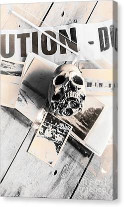 Industrial Concept Canvas Print - Evidence Of Old Crimes by Jorgo Photography - Wall Art Gallery