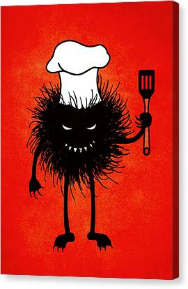 Evil Bug Chef Loves To Cook Canvas Print