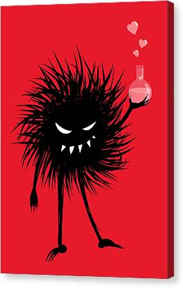 Evil Bug With A Love Potion Canvas Print