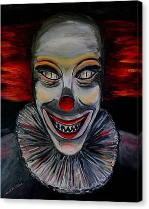 Evil Clown Canvas Print by Daniel W Green