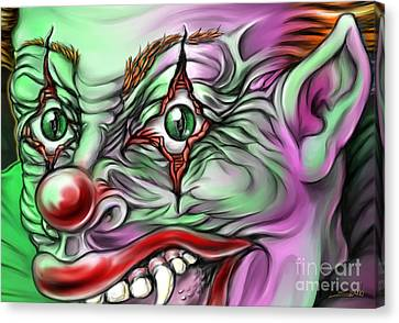 Evil Clown Eyes Canvas Print by Michael Spano
